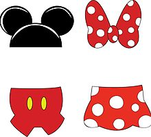 Mickey and Minnie Icons by SunnyDeeWorks