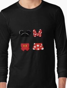 Mickey and Minnie Icons Long Sleeve T-Shirt