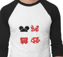 Mickey and Minnie Icons Men's Baseball ¾ T-Shirt