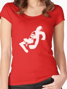 LIMBER-01-WHITE [CERISE] Women's Fitted Scoop T-Shirt