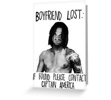 Bucky Lost Greeting Card