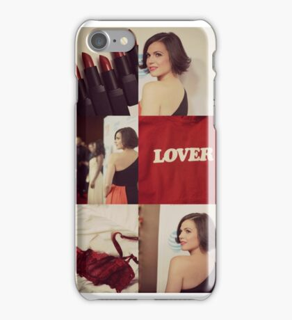 Lana Parrilla -Red iPhone Case/Skin