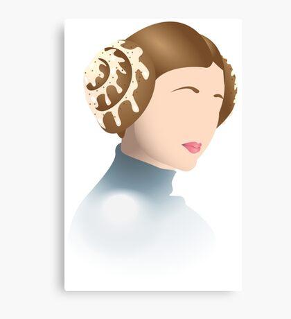 Cinnamon Bun Leia Canvas Print