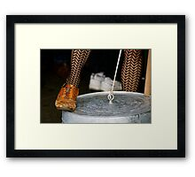 Washtub Bass Framed Print
