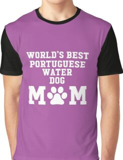 World's Best Portuguese Water Dog Mom Graphic T-Shirt