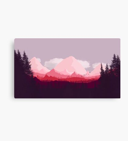 Wooded Mountainous Landscape Canvas Print