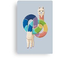 Alpaca Twist Canvas Print
