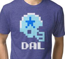 Tecmo Bowl, Tecmo Super Bowl, Tecmo Bowl Shirt, Tecmo Bowl T-shirt, Tecmo Bowl Helmet, DAL Helmet, DAL Tri-blend T-Shirt