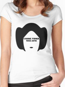Carrie Fisher Women's Fitted Scoop T-Shirt