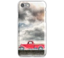 Old Red Ford Pickup iPhone Case/Skin