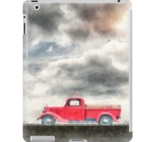 Old Red Ford Pickup iPad Case/Skin