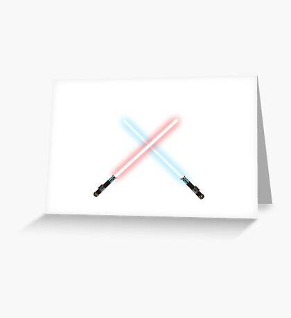Lightsaber battle Greeting Card