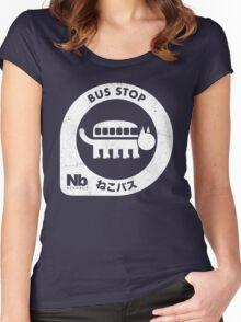 Neko Bus Stop Women's Fitted Scoop T-Shirt