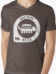 Neko Bus Stop Mens V-Neck T-Shirt