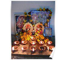 Diyas for Diwali Puja Poster
