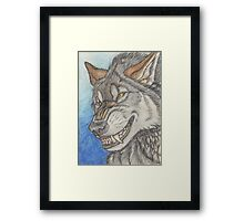 With a Wolfish Grin Framed Print