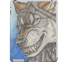 With a Wolfish Grin iPad Case/Skin