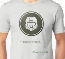 Green Halo Master Chief Helmet Icon Unisex T-Shirt