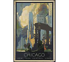 Vintage poster Chicago Photographic Print