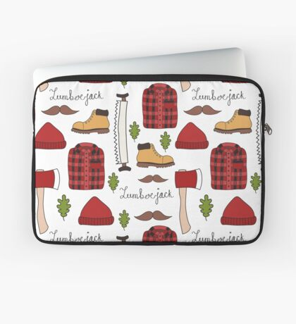 lumberjack doodle pattern Laptop Sleeve