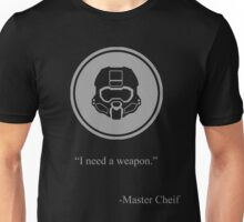 Gray Halo Master Chief Icon Unisex T-Shirt