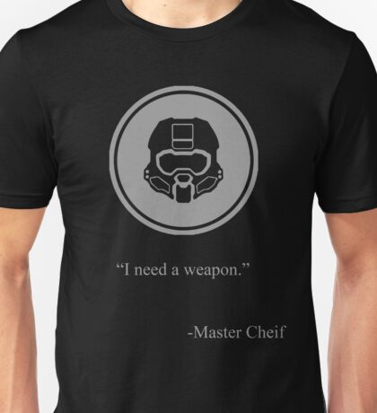 Gray Halo Master Chief Icon Unisex T-Shirt