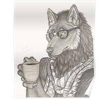 Hipster Wolf Poster
