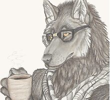 Hipster Wolf by kigaiholt