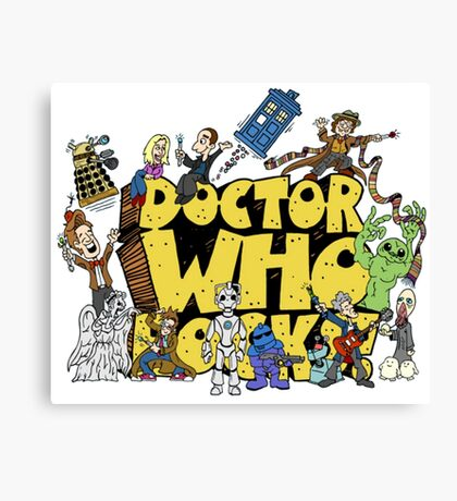Doctor Who Rocks Canvas Print
