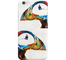 Colorful Puffin Art By Sharon Cummings iPhone Case/Skin