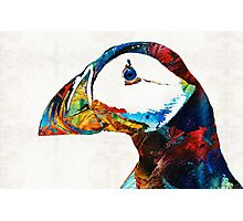 Colorful Puffin Art By Sharon Cummings Photographic Print