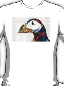 Colorful Puffin Art By Sharon Cummings T-Shirt