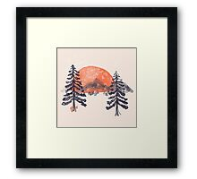 First Snow... Framed Print