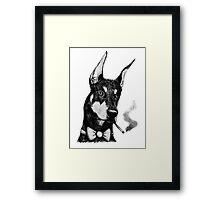 Smokin Dobe Framed Print