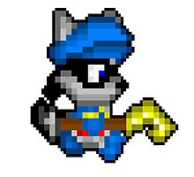 Retro Sly Cooper Photographic Print
