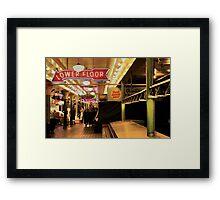 Dawn at the Market Framed Print