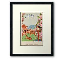 Vintage Travel PosterJapan Framed Print