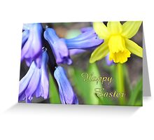 Happy Easter - spring flowers Greeting Card