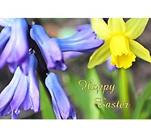 Happy Easter - spring flowers Photographic Print
