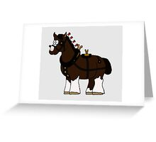 Shire in Harness Greeting Card