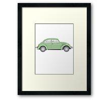 cox vw green Framed Print