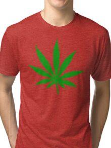 Marijuana Leaf Tri-blend T-Shirt