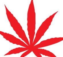 Canadian Flag Marijuana Leaf Sticker
