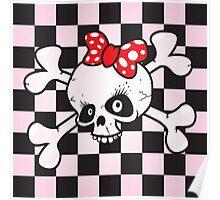 girl power skull Poster