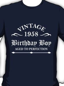 Vintage 1958 Birthday Boy Aged To Perfection T-Shirt