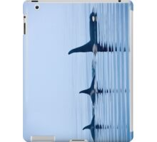 Three Killer whales with huge dorsal fins iPad Case/Skin