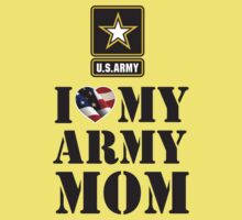 I LOVE MY ARMY MOM Kids Clothes