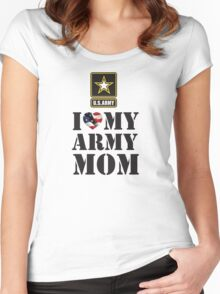 I LOVE MY ARMY MOM Women's Fitted Scoop T-Shirt