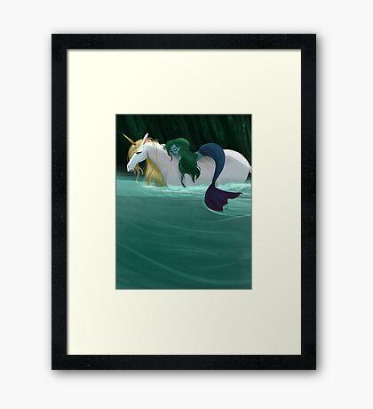 The Mermaid and the Unicorn Framed Print