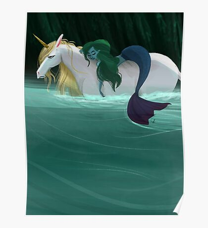 The Mermaid and the Unicorn Poster